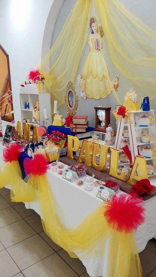 Mesa de dulces la bella  bestia by fantasy candy also fiesta rh pinterest