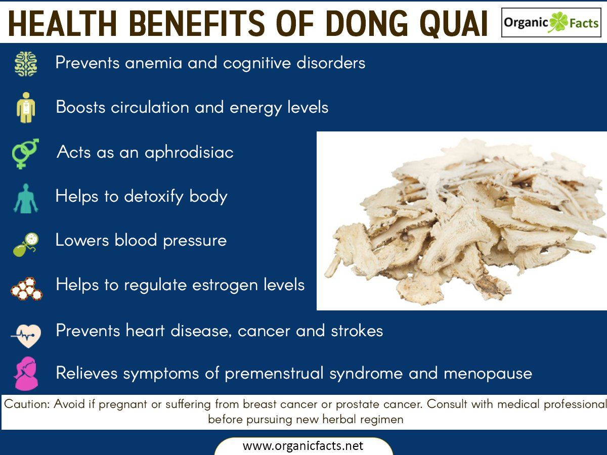 Some of the most interesting health benefits of Dong Quai include