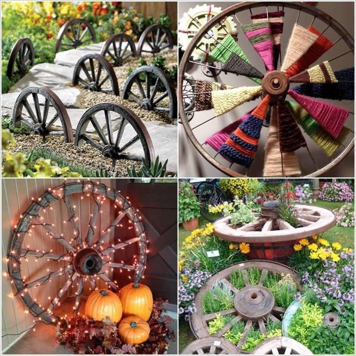 10 Amazing Ideas To Decorate Your Home With Wagon Wheels Wheel