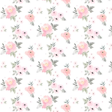 Colorful Fabrics Digitally Printed By Spoonflower 2 5 Sweet Blush Roses Flower Nursery Baby Girl Bedding Blush Roses
