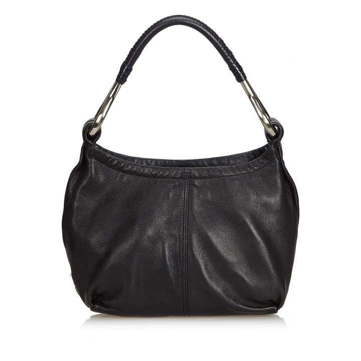 ee0fa679698b Prada Black Leather Handbag  hobobagsprada