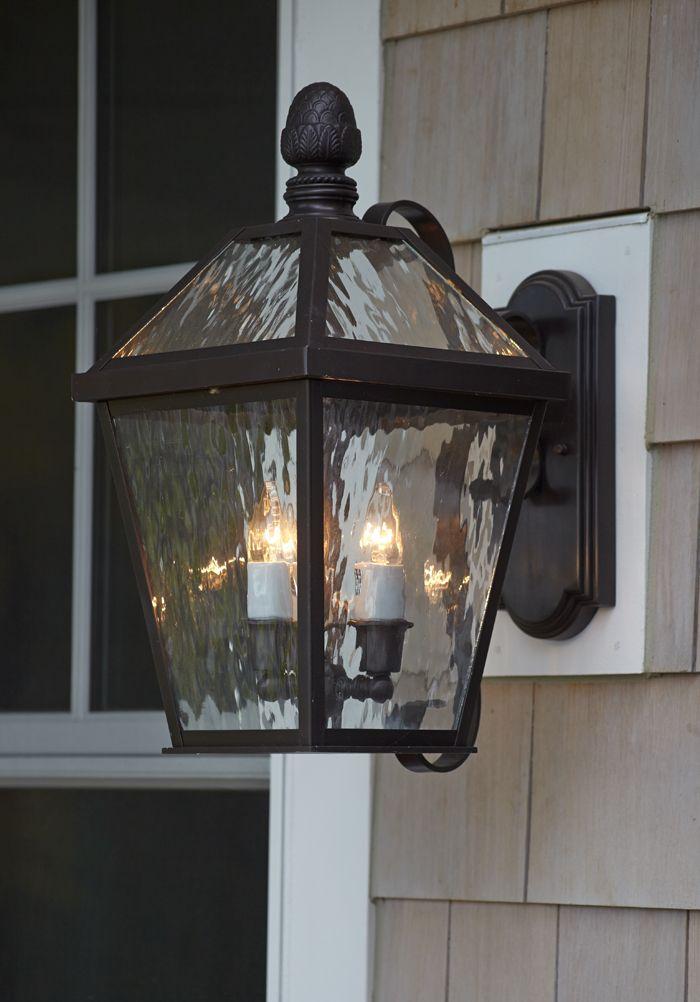 Close Up Of London Lantern Exterior Light Fixture Exterior Wall