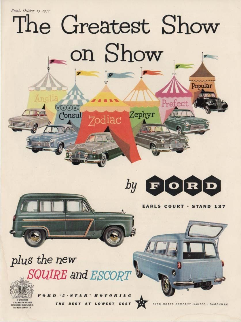 The FORD SQUIRE & ESCORT + FULL RANGE - Greatest Show (1955 ...