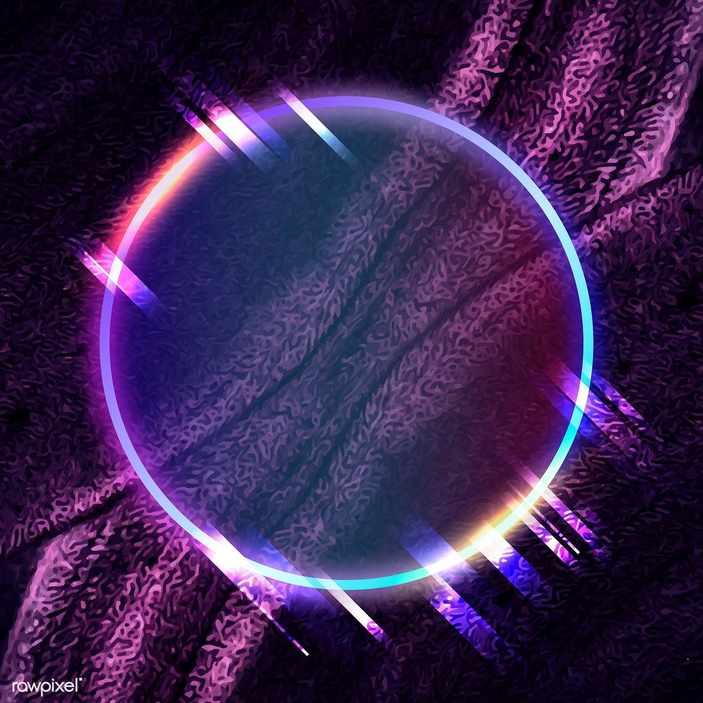 Download premium vector of Round frame on abstract