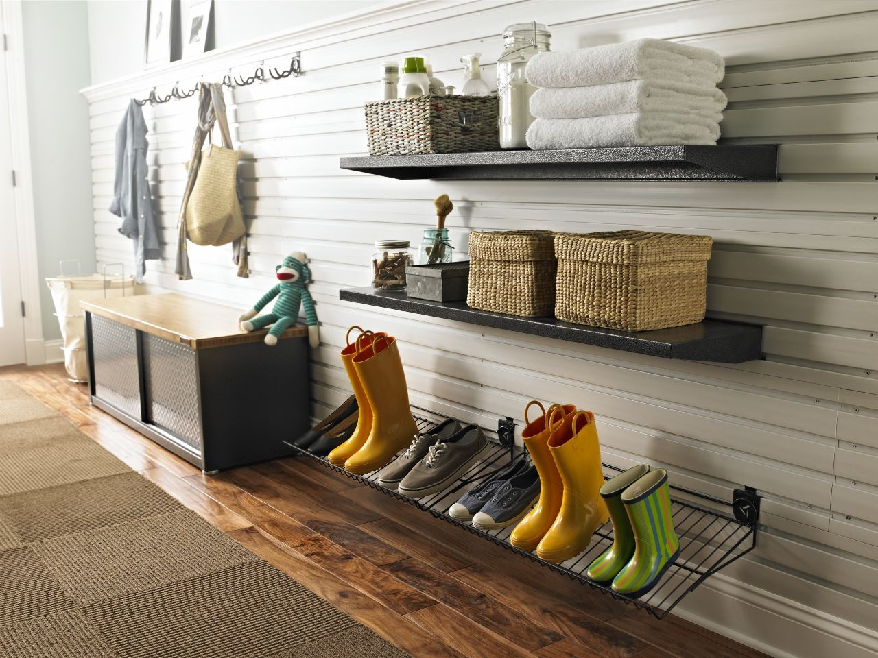 Lowes Garage Organization Ideas Part - 39: Dazzling Shoe Racks And Organizers Trend Orlando Industrial Garage And Shed  Innovative Designs With Garage Garage Design Works Home Tradie Organization  ...