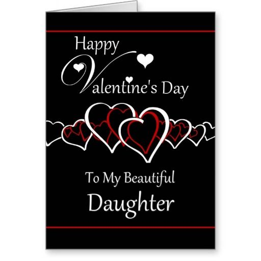 Daughter Happy Valentine S Day Heart Silhouettes Holiday Card Zazzle Com In 2021 Happy Valentine Day Quotes Happy Valentine S Day Daughter Valentines Day Wishes