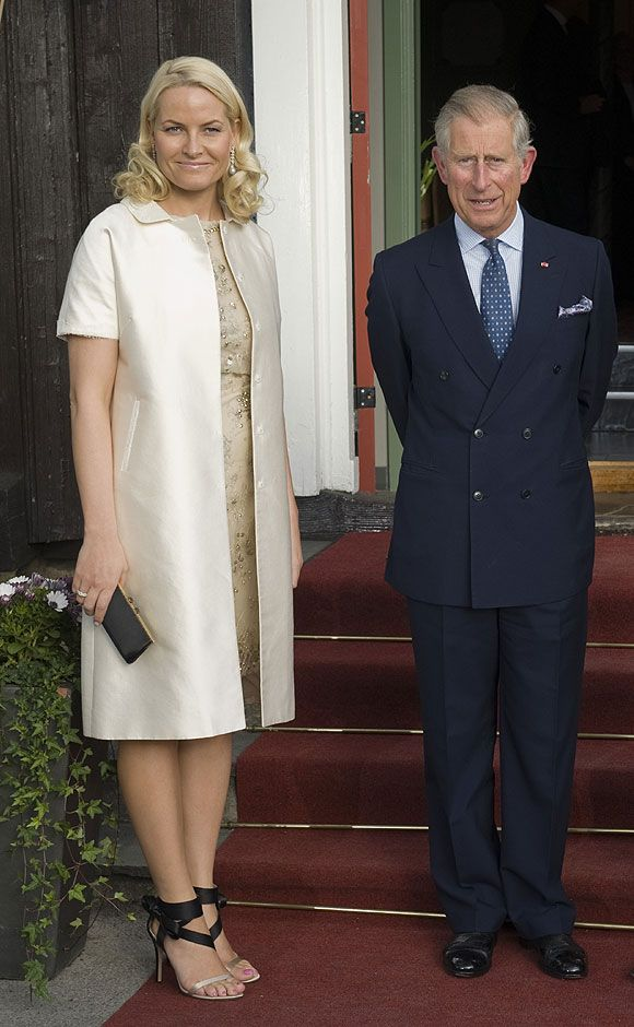 0bfe8872 Crown Princess Mette-Marit of Norway with Prince Charles of Wales ...