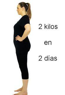 como bajar 2 kilos en dos dias