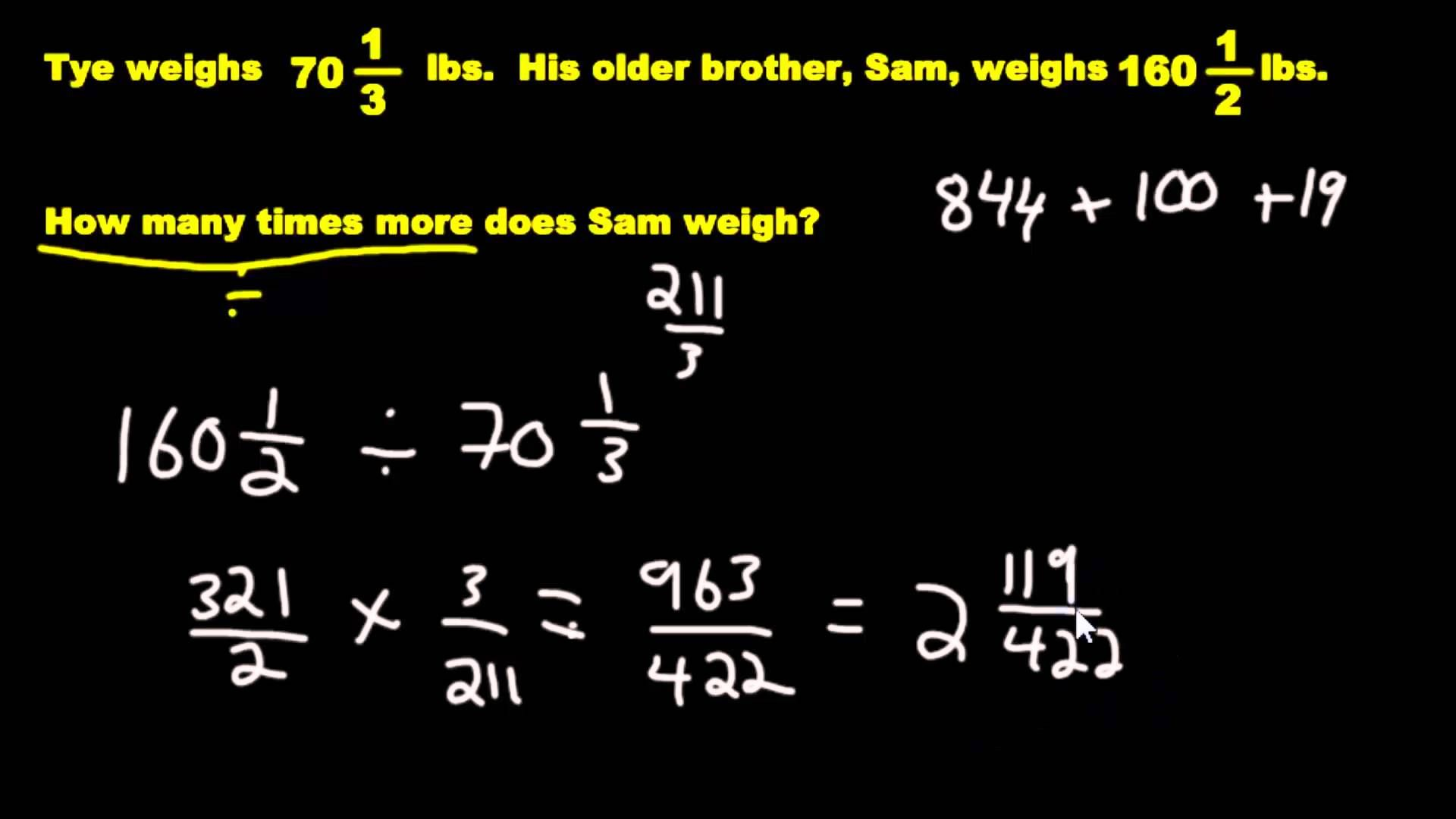 Word Problems Multiplying And Dividing Fractions With