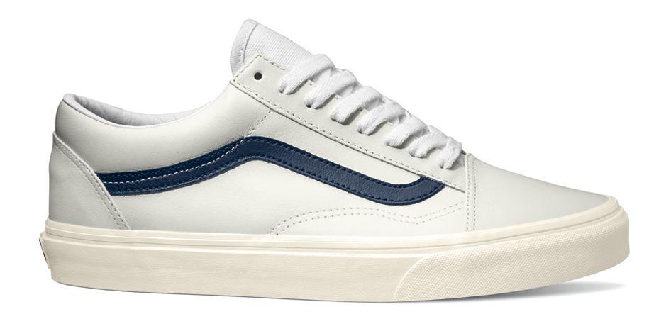 Vans Old Skool (Matte Leather) True WhiteDress Blues | Vans