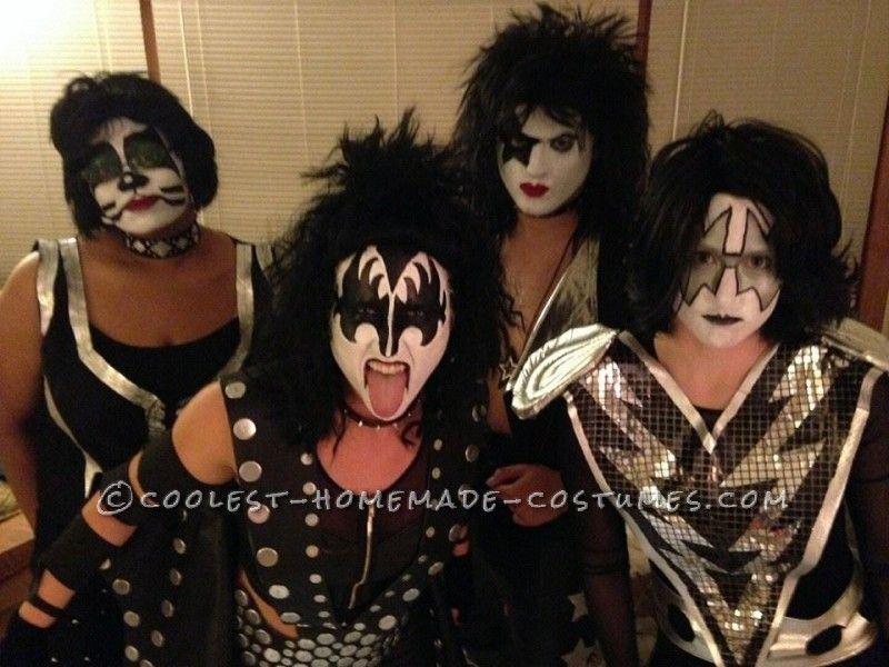 Cool Homemade KISS Group Halloween Costume Kiss group, Group - cool group halloween costume ideas