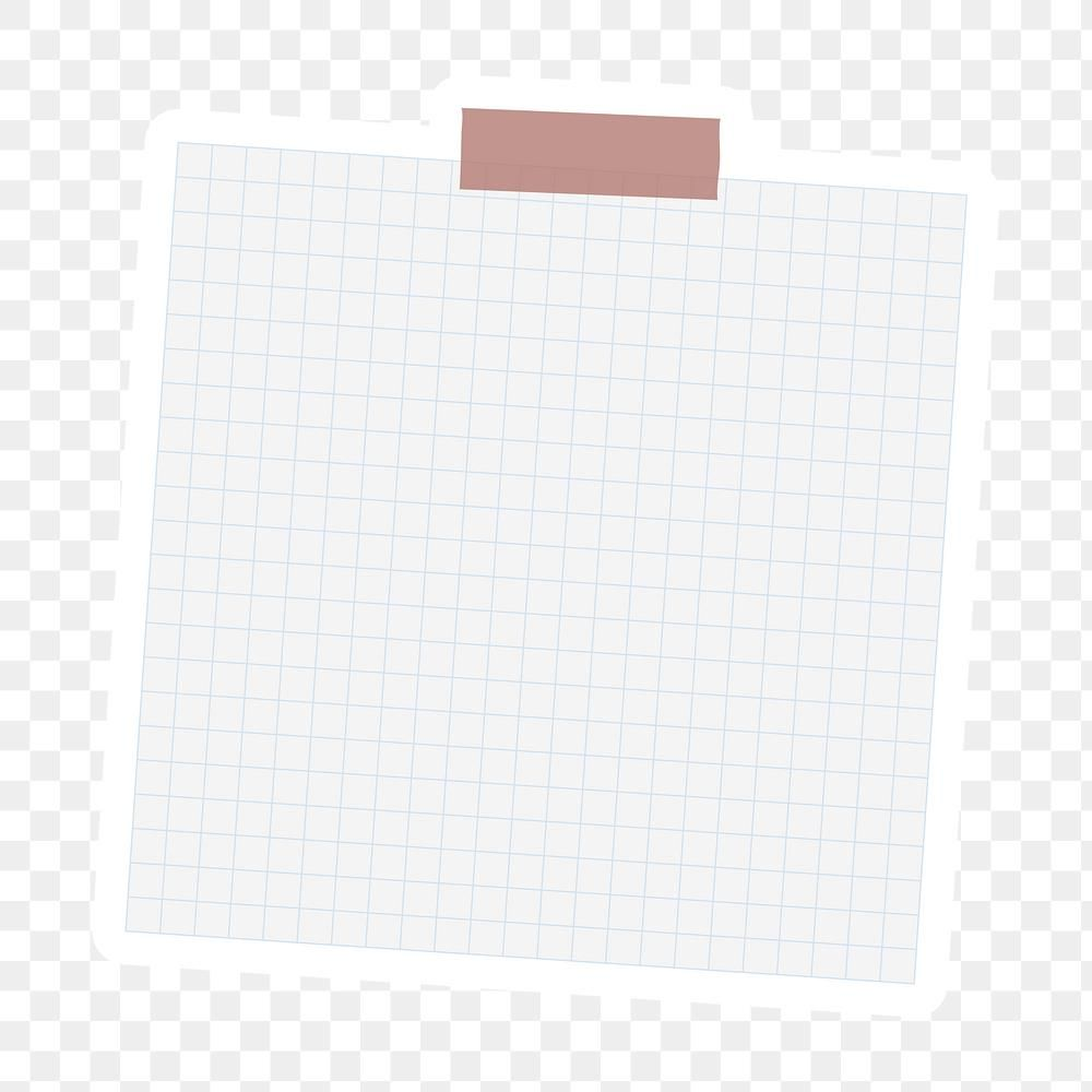 White Grid Notepaper Journal Sticker Design Element Free Image By Rawpixel Com Sasi Journal Stickers Photo Collage Template Note Paper