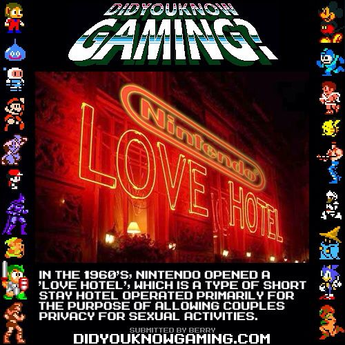 Did you know gaming? Nintendo sex