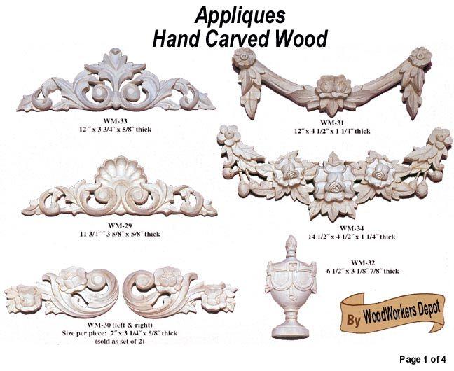 Wood Appliques U0026 Rosettes   Up To 71% Off   CabinetParts.com