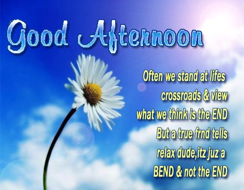 Good Afternoon Quotes For Him: Good AfterNoon Often We Stand At Lifes Crossroads And View