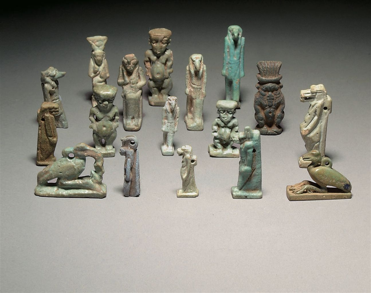 A Large Group Of Mainly Glazed Composition Egyptian