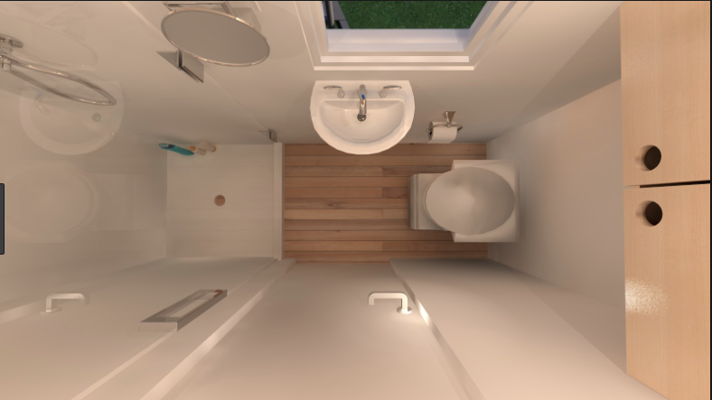 Bath Compact Could Be Opposite A Galley Kitchen Only 3 Ft Wide Tiny Bathrooms Very Small Bathroom Tiny House Bathroom