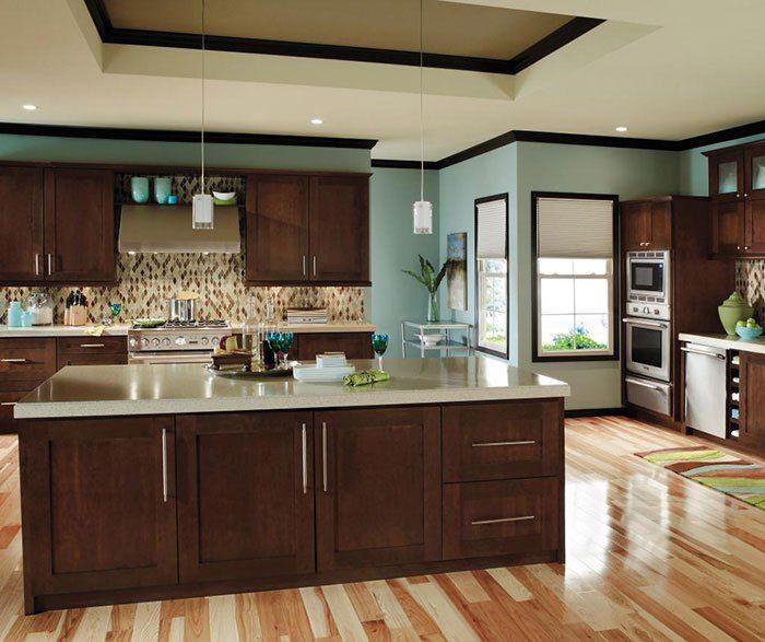 contemporary cherry kitchen cabinets decora cabinetry ...