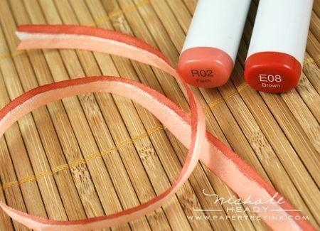 Use copics to color ribbon