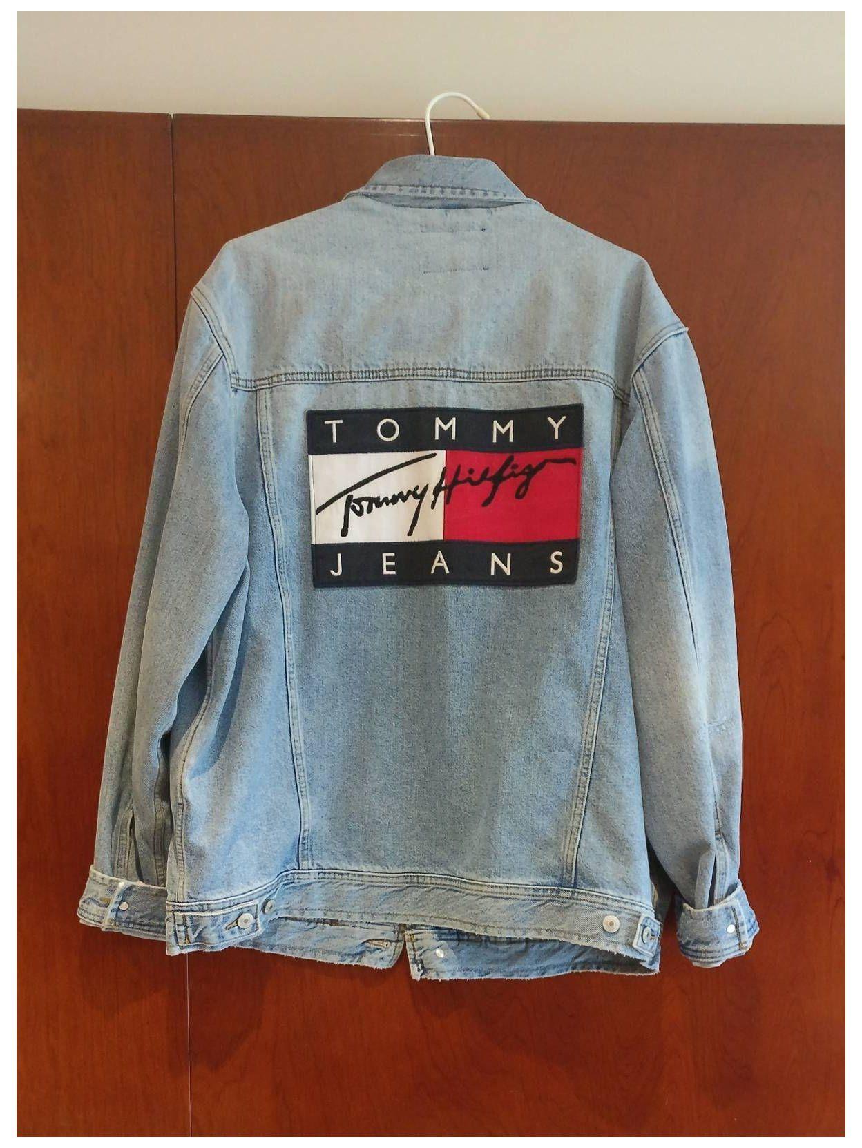 Pin By Londonmilligan On Jacket In 2021 Tommy Hilfiger Sweatshirt Tommy Hilfiger Fashion Denim Jacket Women [ 1662 x 1248 Pixel ]