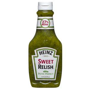 Heinz Sweet Relish Relish Sauce Sweet Pickles Pickle Relish