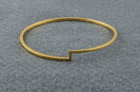 Items similar to Trat Gold Bangle  Geometric Gold Bracelet  Minimal Bangle  Gold Square Bracelet  Gold Plated Jewelry  HaniaJewellery  Gift For Her on Etsy  Treaded Gold...