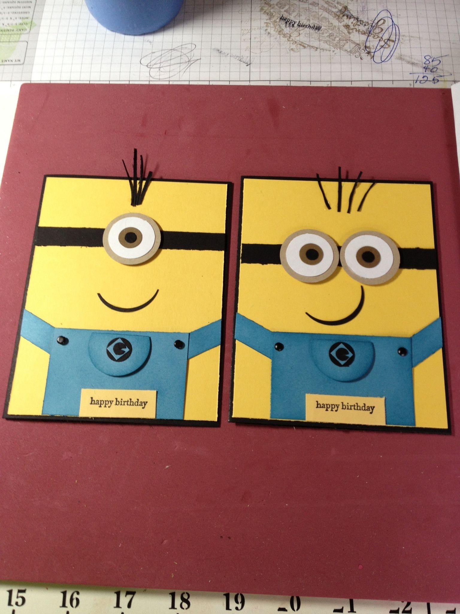 Картинки для, как сделать открытки с миньонами