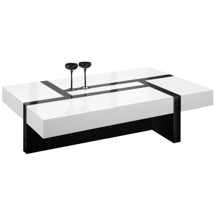 table de salon rectangulaire noir et