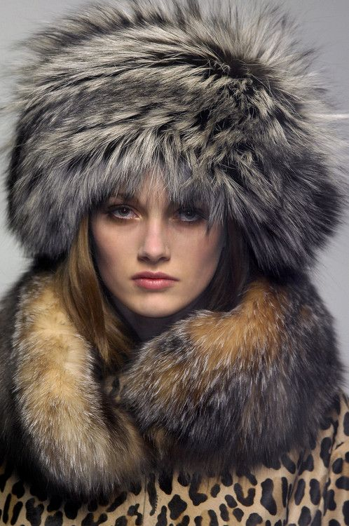 nothing says Russia to me more than a woman in a fur hat Love love love!!! 5f6258a99ed