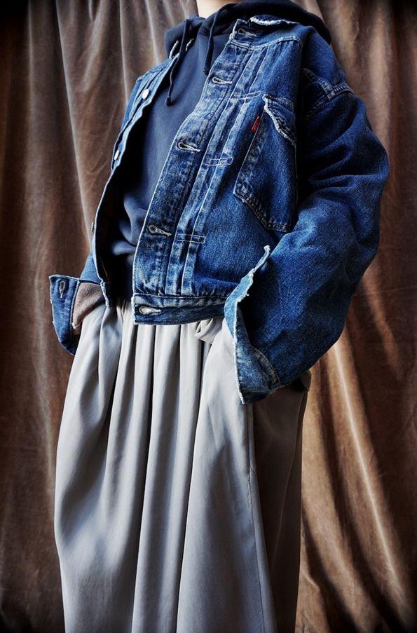 LEVI'S VINTAGE CLOTHING ( U.S.A. ) 1936 TYPE 1 LINED JACKET Ten-c ( ITALY ) GARMENT DYED MAKO COTTON FLEECE SWEAT PARKA [ 08sircus ] FIBRILL CUPRA GATHER WRAP SKIRT  www.lancah.com