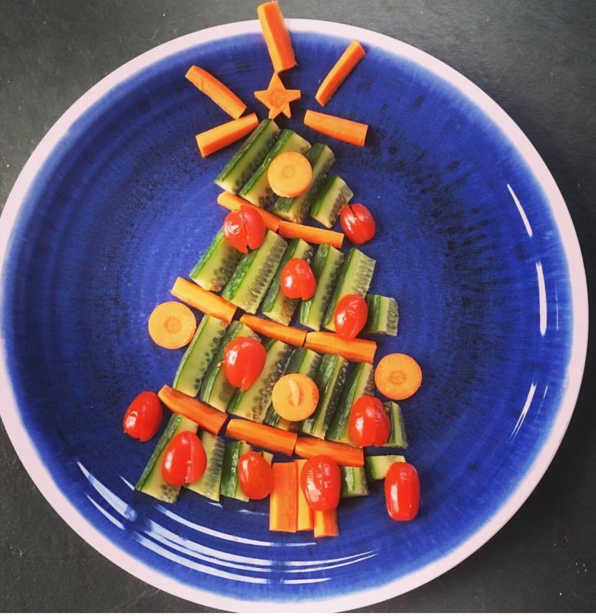 Vegetable Christmas Tree