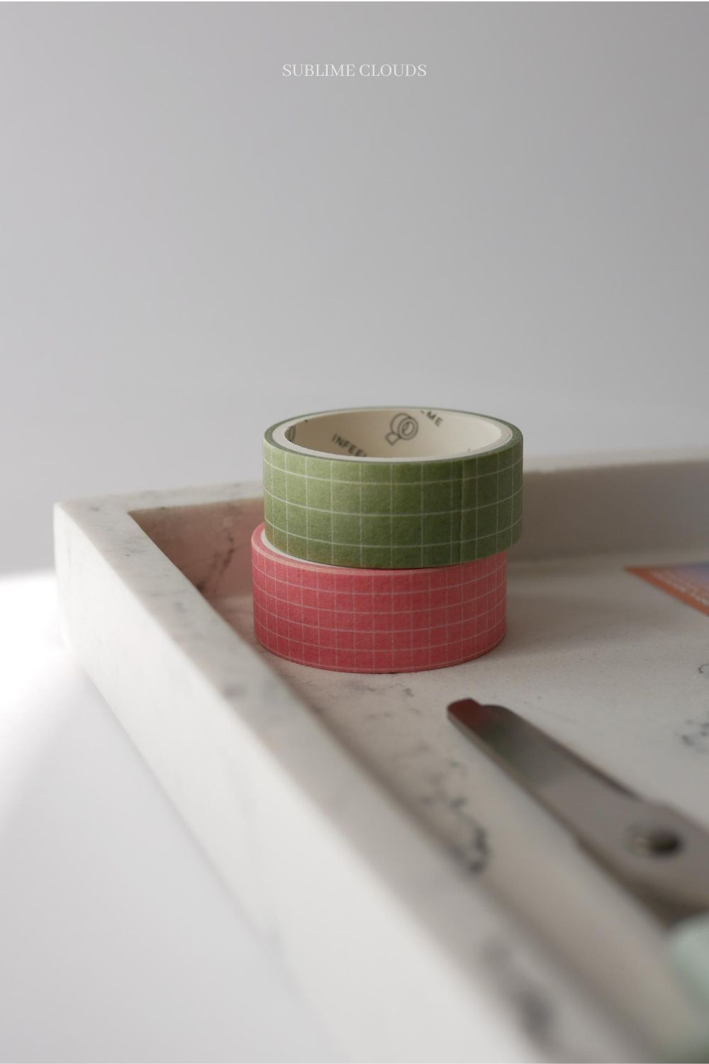 Set 2 Grid Washi Tape Decorative Tape Pink Green Pastel Etsy In 2020 Washi Tape Bullet Journal Accessories Washi