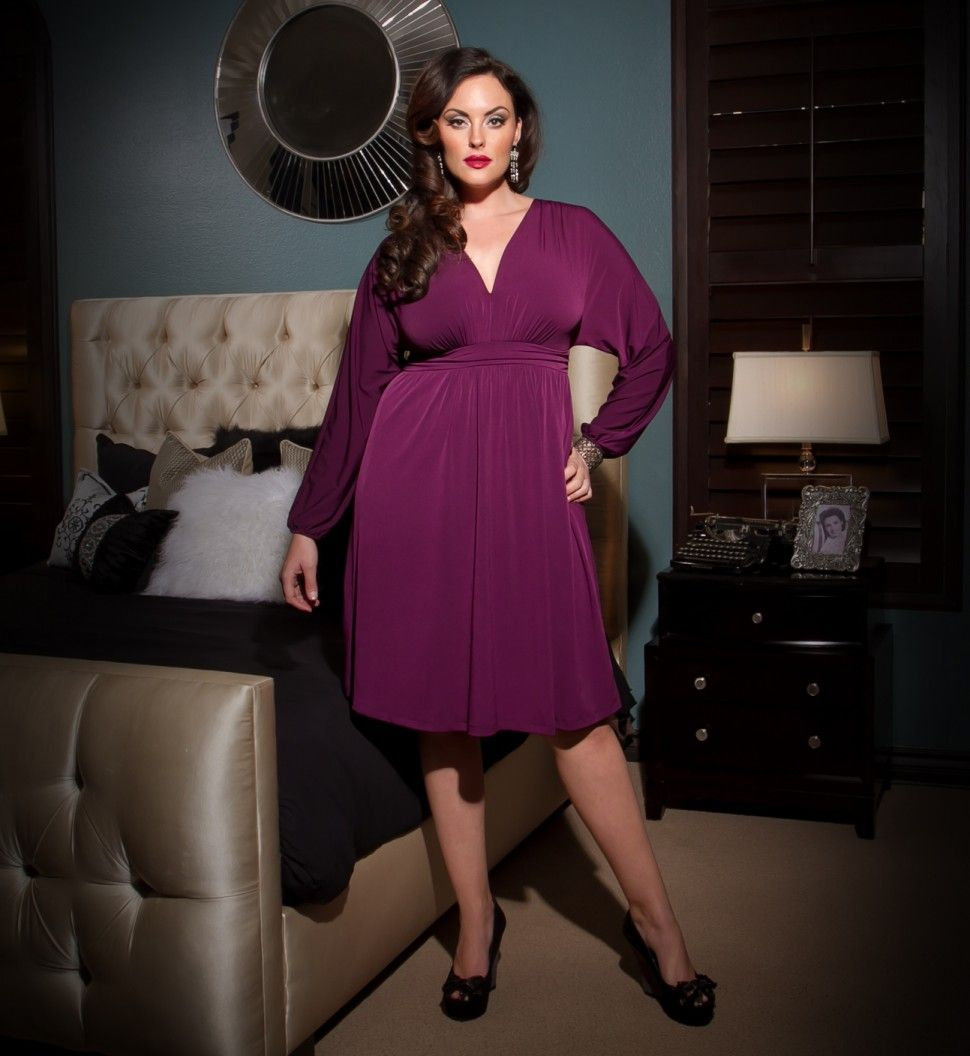 Velma Dolman Sleeve Dress | Curvy Bridesmaid | Pinterest