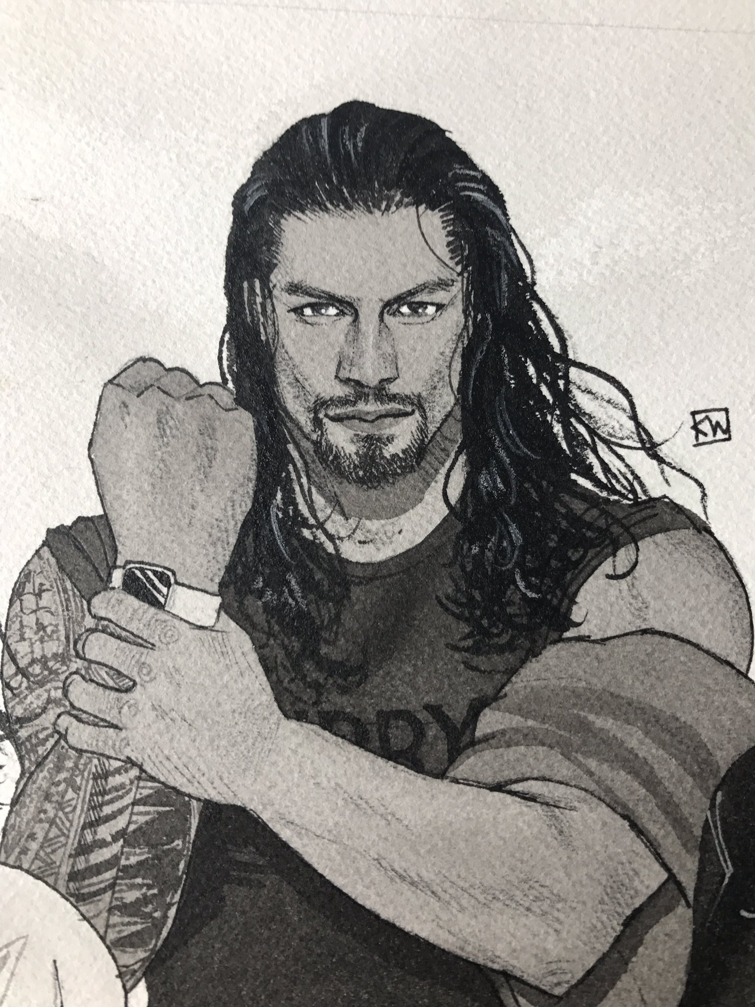 Pin By Thiagosantinoalonso On We Own This Business Roman Reigns Drawing Roman Reigns Roman Reings