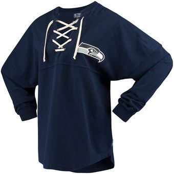 4c1cd955 Women's NFL Pro Line by Fanatics Branded College Navy Seattle ...