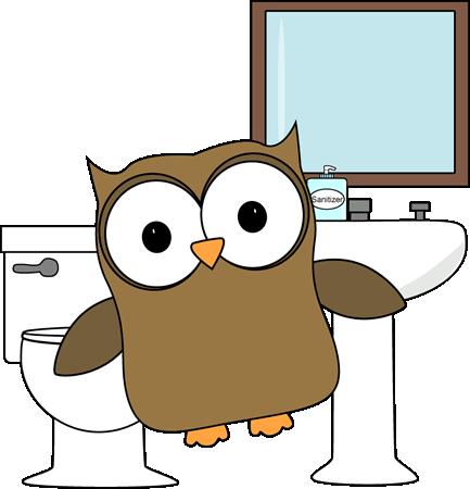 owl bathroom monitor art classroom