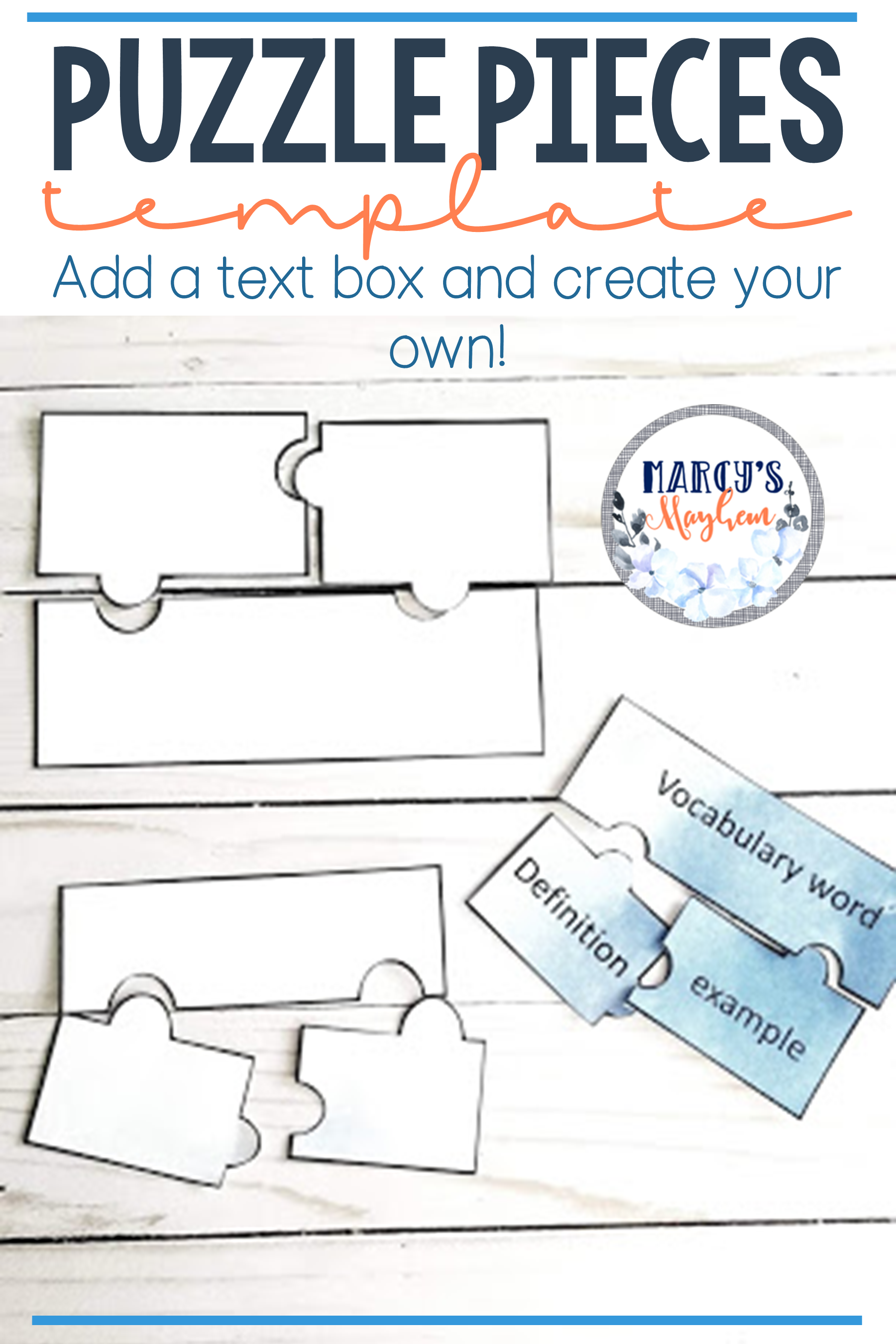 Puzzle Pieces Template With Images