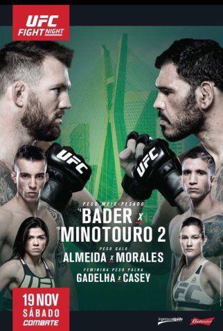 Ufc Fight Night 100 Forecast And Predictions Ryan Bader Vs Antonio Rogerio Nogueira Ufc Fight Night Ufc Ufc Poster