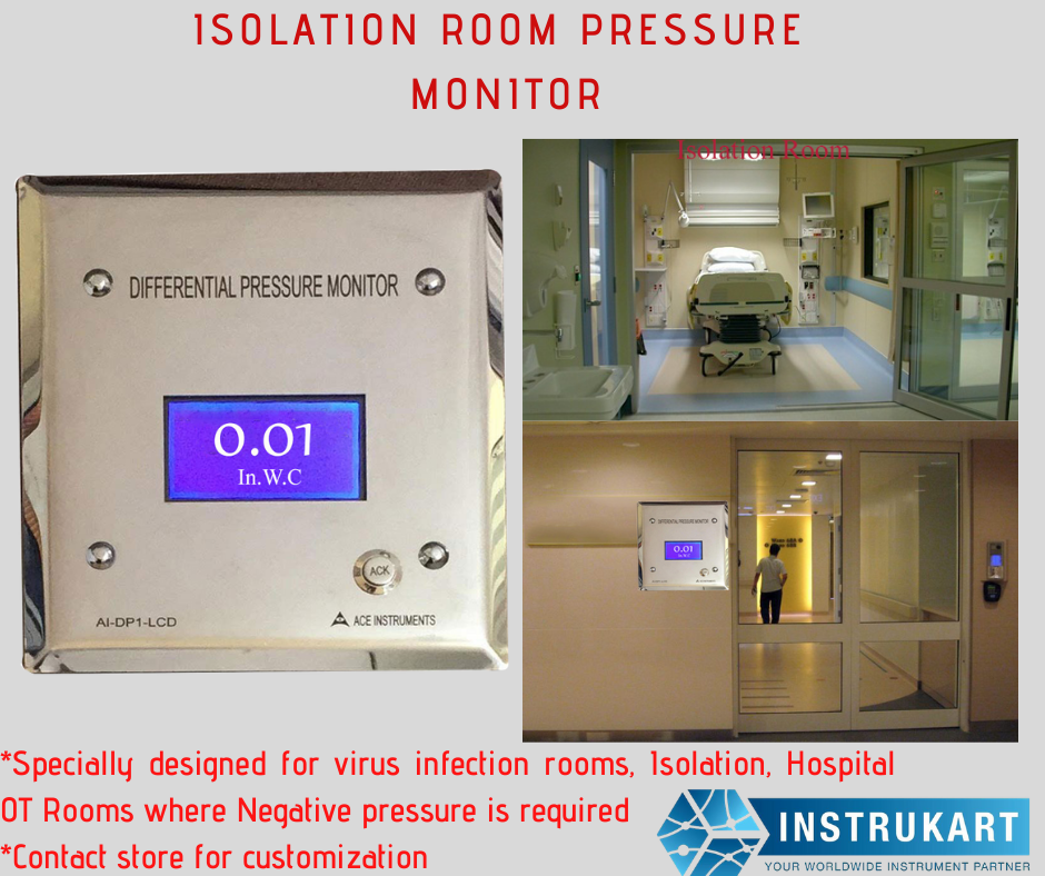 Isolation Room Differential Pressure Monitor in 2020