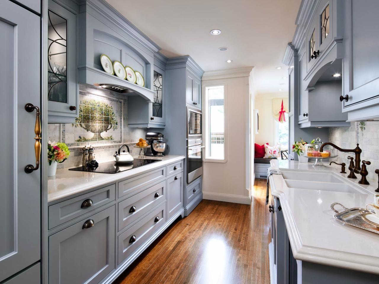 Grey galley kitchen design | Kitchen | Pinterest