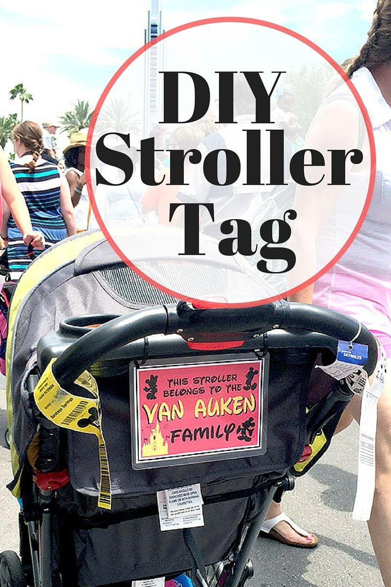 Disney Stroller ID Tag Strollers at disney world, Disney