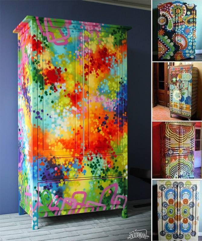 Boho Möbel und Designs Funky painted furniture, Paint furniture