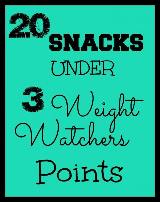 20 Snacks Under 3 Weight Watchers Points Helpful Tips Pinterest