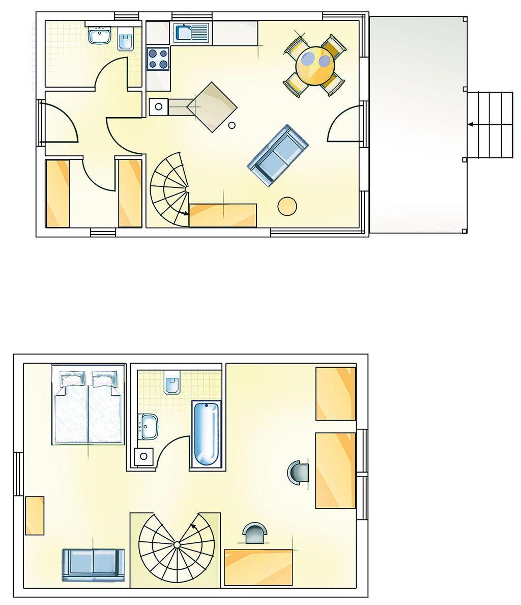 75 Qm Verteilen Sich Auf Zwei Etagen U2013 Im Sommer Lockt Die Holz Terrasse Als