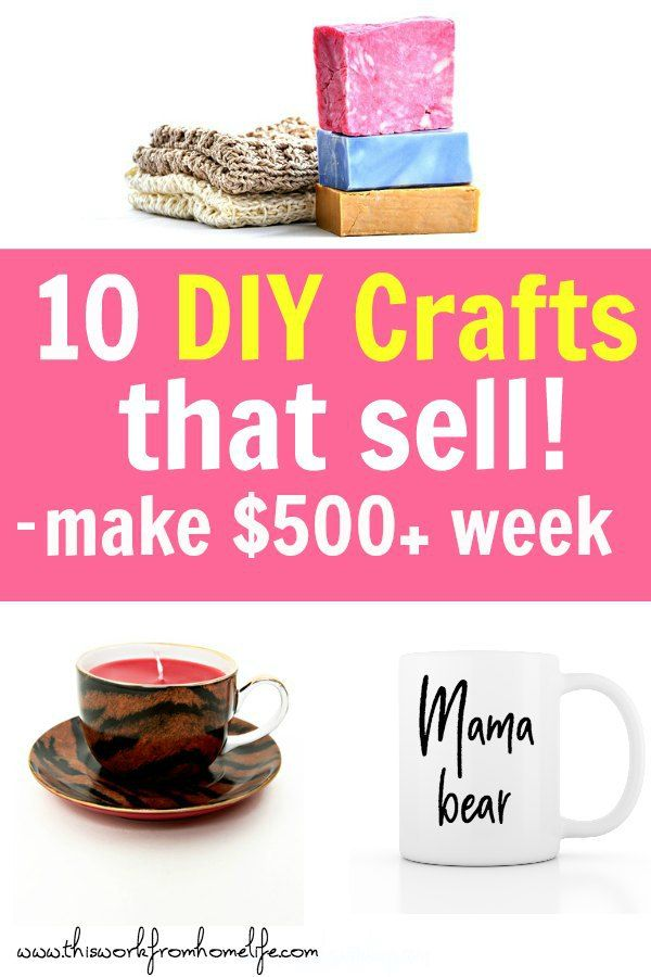 10 Easy DIY Crafts To Sell Or Give As Gifts #craftstomakeandsell