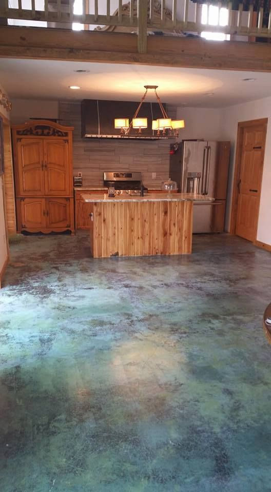 Marbled Acid Stained Floors Directcolors Com Clever