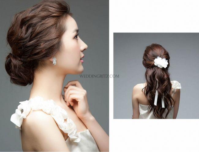 Korea Pre Wedding Photoshoot Weddingritz Com Hesed Wedding Hair And Make Up Samples I Love The So Hairdo Wedding Wedding Hair Down Hair Design For Wedding