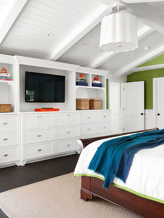 Inspired By} Wood Beam & Plank Ceiling Design | Ceilings, Bedrooms ...