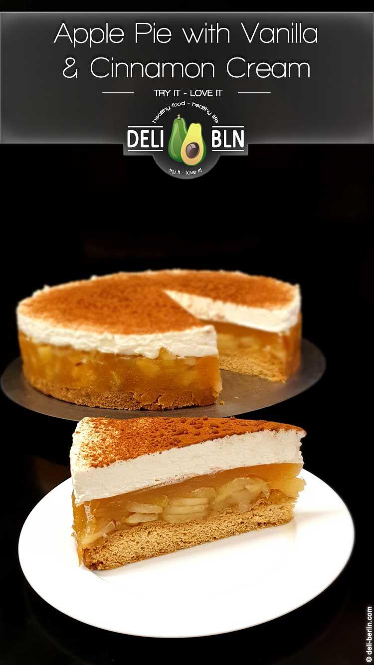 Rezept Apfel Zimt Sahne Torte Mit Vanille Pudding Apfelkuchen Deluxe Rezept In 2020 Rezepte Apfel Sahne Torte Apfelkuchen