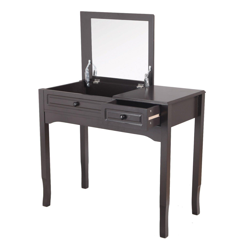 Amazon Com Joveco Makeup Desk Vanity With Flip Top Mirror With